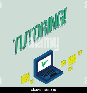 Schreiben Hinweis angezeigt. Business Konzept für Mentoring Lehre unterweisen vorbereiten, die Lektionen zu geben - Stockfoto