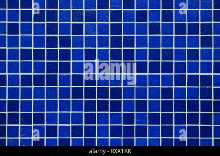 Blaue Mosaikfliesen. Hintergrund Textur.