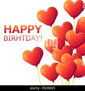 Happy Birthday Typografie vektor design für Grußkarten und Poster mit Ballon und Design Template für die eps. 10 - Stockfoto
