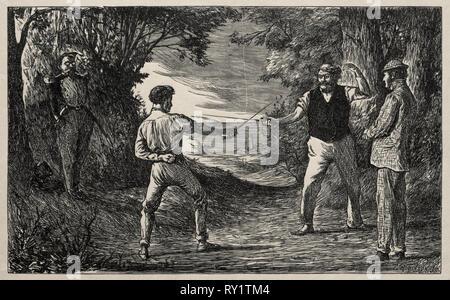 Die naive Wobbler, 1865. George Louis Palmella Busson Du Maurier (British, 1834-1896). Holzstich - Stockfoto
