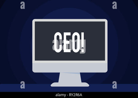 Text zeichen Ceo angezeigt. Business Foto text Chief Executive Officer Leiter Boss Chairdemonstrating Chairanalysis Controller - Stockfoto