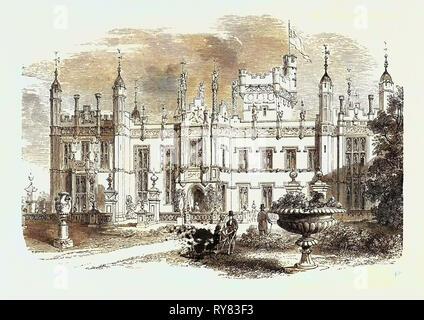 Knebworth Hertfordshire Sitz des Lord Lytton 1873