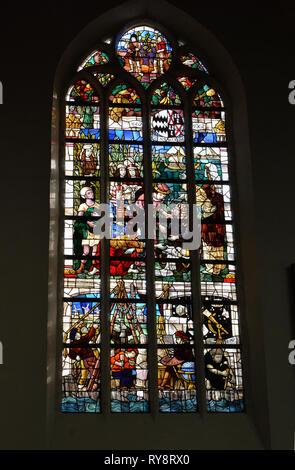 Die alte Kirche, Delft, Niederlande - Stockfoto