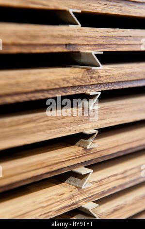 Stapel von Bauholz - Stockfoto