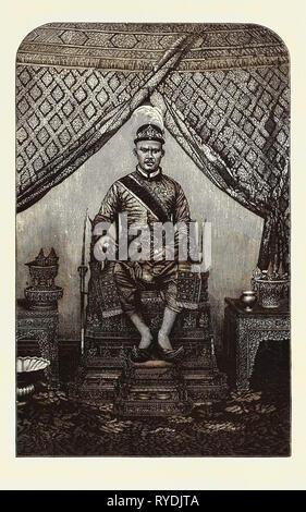 """Die """"zweite König von Siam in seinem Zustand Roben - Stockfoto"""