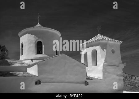 Kloster St. Georg von Skyros von Chora die Hauptsiedlung und Hauptstadt der Insel Skyros, in Sporaden Komplex, Zentral Griechenland, Ägäis - Stockfoto
