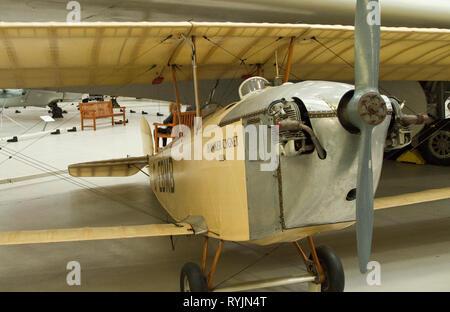 Hawker Cygnet 1920er Jahrgang Doppeldecker - Stockfoto