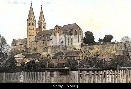 Kirchen in Quedlinburg, Schloss Quedlinburg, 1905, Sachsen-Anhalt, Quedlinburg, Schloß, Deutschland - Stockfoto