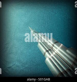 Burj Khalifa Tower, weltweit höchsten Gebäude in Dubai Vereinigte Arabische Emirate - Stockfoto