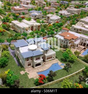 Modell der Luxus-Villa im vorgeschlagenen neuen exklusiven Wohnsiedlung in Dubai Vereinigte Arabische Emirate - Stockfoto
