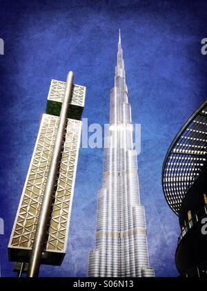 Burj Khalifa Tower in der Dubai Mall in Dubai UAE - Stockfoto