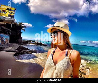 Karibischen Lifestyle, St. Maarten-Inseln - Mode, entspannend, blauen Ozean - Stockfoto