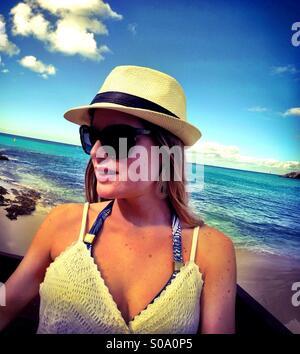 St.Maarten Karibik Inseln Portrait - Mode, Strand, Reisen, lifestyle - Stockfoto
