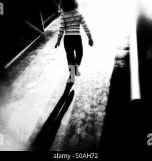 Jugendliches Schattenspiel - Stockfoto