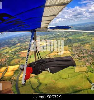 Drachenfliegen über Worcestershire. - Stockfoto