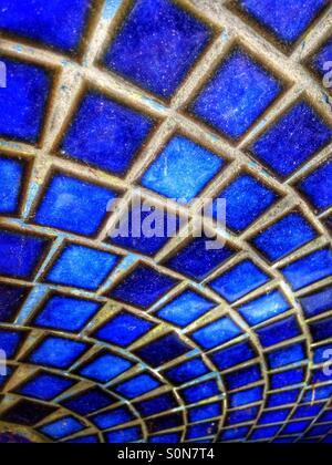 Blaue Mosaik-Fliesen - Stockfoto