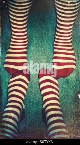 Gestreifte Socken - Stockfoto