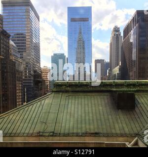 Skyline von New York City wie gesehen von der Grand central station - Stockfoto