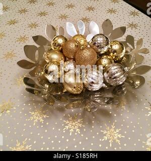 Weihnachten-Tisch-Mittelstück - Stockfoto