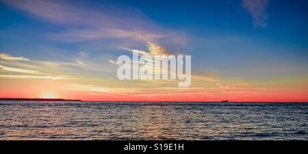 Sonnenuntergang an der Ostsee - Stockfoto