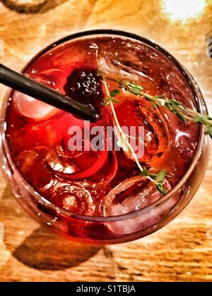 Himbeere gin Cocktail