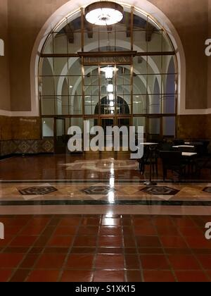 Union Station Los Angeles Innenraum Nacht - Stockfoto
