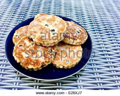 Walisischen Kuchen, auch als Bakestones bekannt - Stockfoto