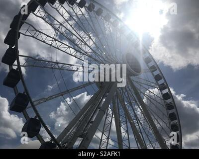 Die ikonischen Centennial Rad am Chicago's Navy Pier. - Stockfoto