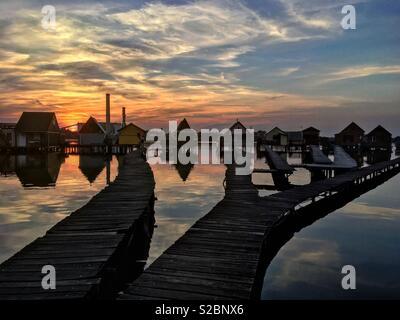 Schwimmende Dorf (Bokod) - Stockfoto