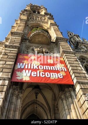 Rathaus Rathaus, in Wien. - Stockfoto