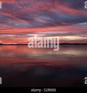 Balaton Sonnenuntergang - Stockfoto