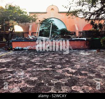 Zurückgelassenes Eigentum in Cancun, Mexiko - Stockfoto