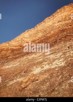 Felswand im Valle de la Luna oder Tal des Mondes, San Pedro de Atacama, Chile