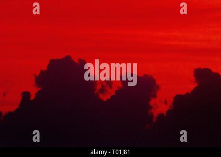 Moody Wolken über SE 016 - Stockfoto