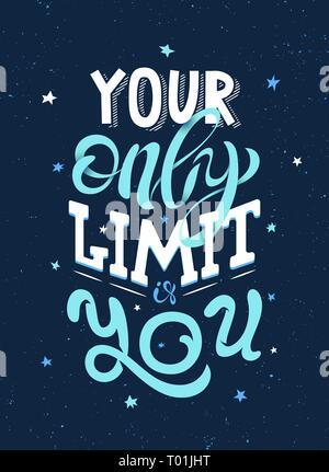 Handdrawning Typografie inspirierende Poster. Banner Konzept. Zitat Vector Illustration für Drucken. - Stockfoto