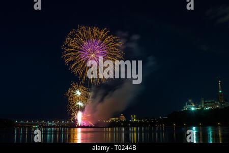 Feuerwerk in Ottawa, Kanada