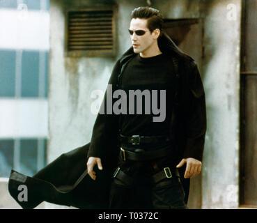 KEANU REEVES, DER MATRIX, 1999 - Stockfoto