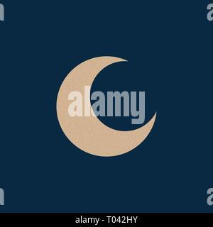 """Durch das Symbol """"Mond"""". Grunge Karton Textur. Vector Illustration. Blauer Hintergrund - Stockfoto"""