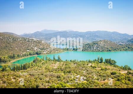 Gränna Seen, Dalmatien, Kroatien, Europa - Überblick über die schöne Gränna Seen - Stockfoto