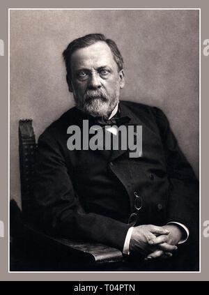 LOUIS PASTEUR historischen Studio Portrait von renommierten innovative französische Fotografen Nadar von Louis Pasteur 1822-1895 ein führender französischer Chemiker, Wissenschaftler und Mikrobiologe. Louis Pasteur ist allgemein gutgeschrieben wird, einer der Wissenschaftler, die die Existenz von Lebewesen zu klein für das menschliche Auge zu sehen. - Stockfoto