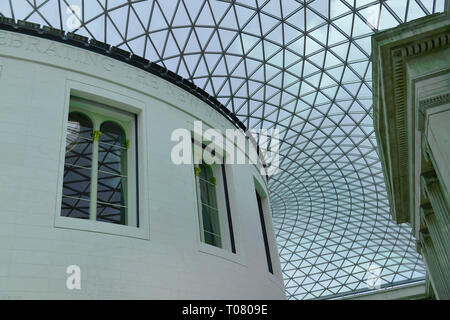 Lichthof, British Museum, Great Russell St, Bloomsbury, London, Grossbritannien - Stockfoto