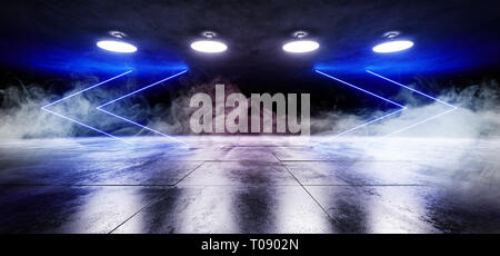 Rauch Nebel Neon Pfeilformigen Sci Fi Moderne Futuristischen Alien
