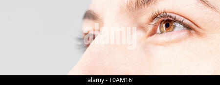 Menschliche eyse close-up - Stockfoto