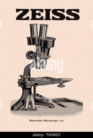 Mikroskop xa 1923Th - Stockfoto
