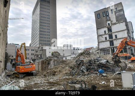 Abriss Ku Dam Square, Kurfürstendamm, Charlottenburg, Berlin, Deutschland, Abriss Kudamm Karree, Deutschland - Stockfoto