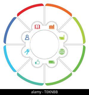Einfache editierbare Infografik vector Template für business Präsentation, Grafik, Diagramm, Grafik, Workflow - Stockfoto