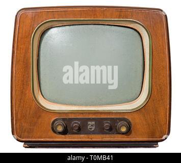 Rundfunk, Fernsehen, Fernseher, Typ Philips TD1722A, Deutschland, 1954, Additional-Rights - Clearance-Info - Not-Available - Stockfoto