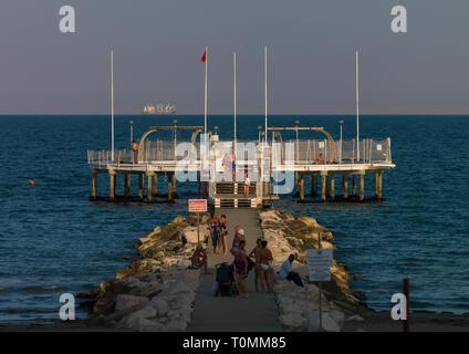 Lido di Venezia Jetty, Region Veneto, Venedig, Italien - Stockfoto