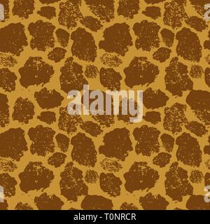Helle realistische giraffe Haut, nahtlose Muster - Stockfoto