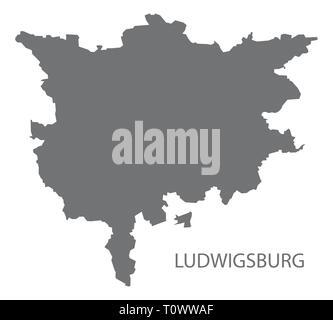 Moderne Karte Kreis Ludwigsburg Baden Wuerttemberg De Vektor